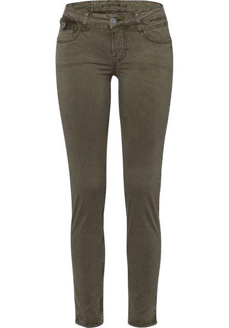 Hosen - BLUE FIRE 5 Pocket Hose »ALICIA« mit hohen Komfort durch Elasthan Anteil › grün  - Onlineshop OTTO