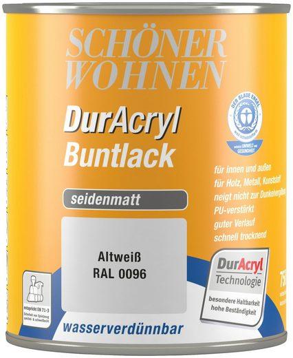 Schöner Wohnen Farbe Buntlack »DurAcryl seidenmatt, 750 ml altweiß«
