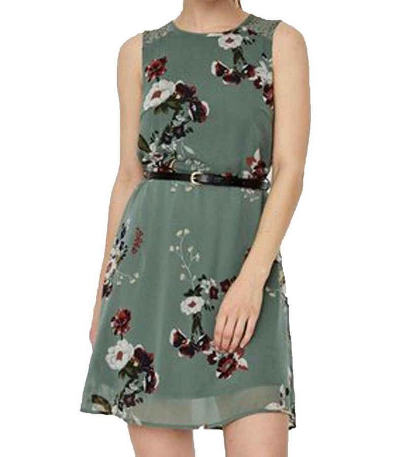 Vero Moda Maxikleid »VERO MODA Mini-Kleid modisches Damen Kleid mit floralem Alloverprint Sommer-Kleid Grün«