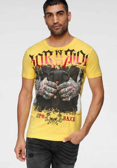 Cipo & Baxx Rundhalsshirt »Born to Ride«