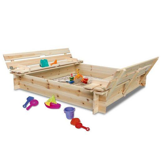 Coemo Sandkasten, mit 2 Sitzbänken gleichzeitig Abdeckung