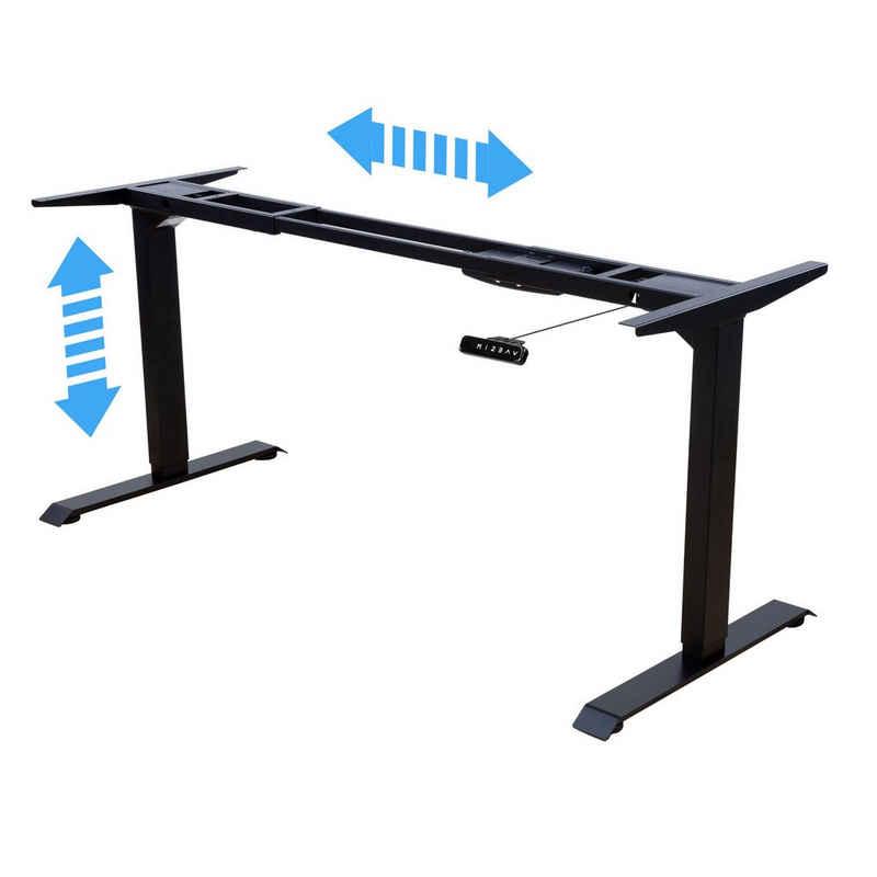 Albatros Schreibtisch »Albatros Schreibtisch-Gestell LIFT S5B schwarz, elektrisch höhenverstellbar mit Memory-Funktion, Kollisionsschutz und Soft-Start/Stop«