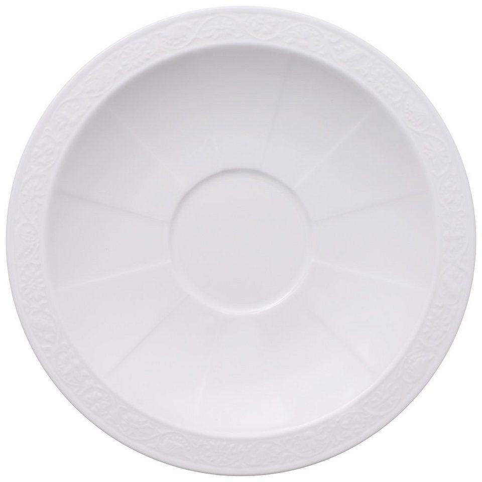 VILLEROY & BOCH Frühstücksuntertasse »White Pearl« in Weiss