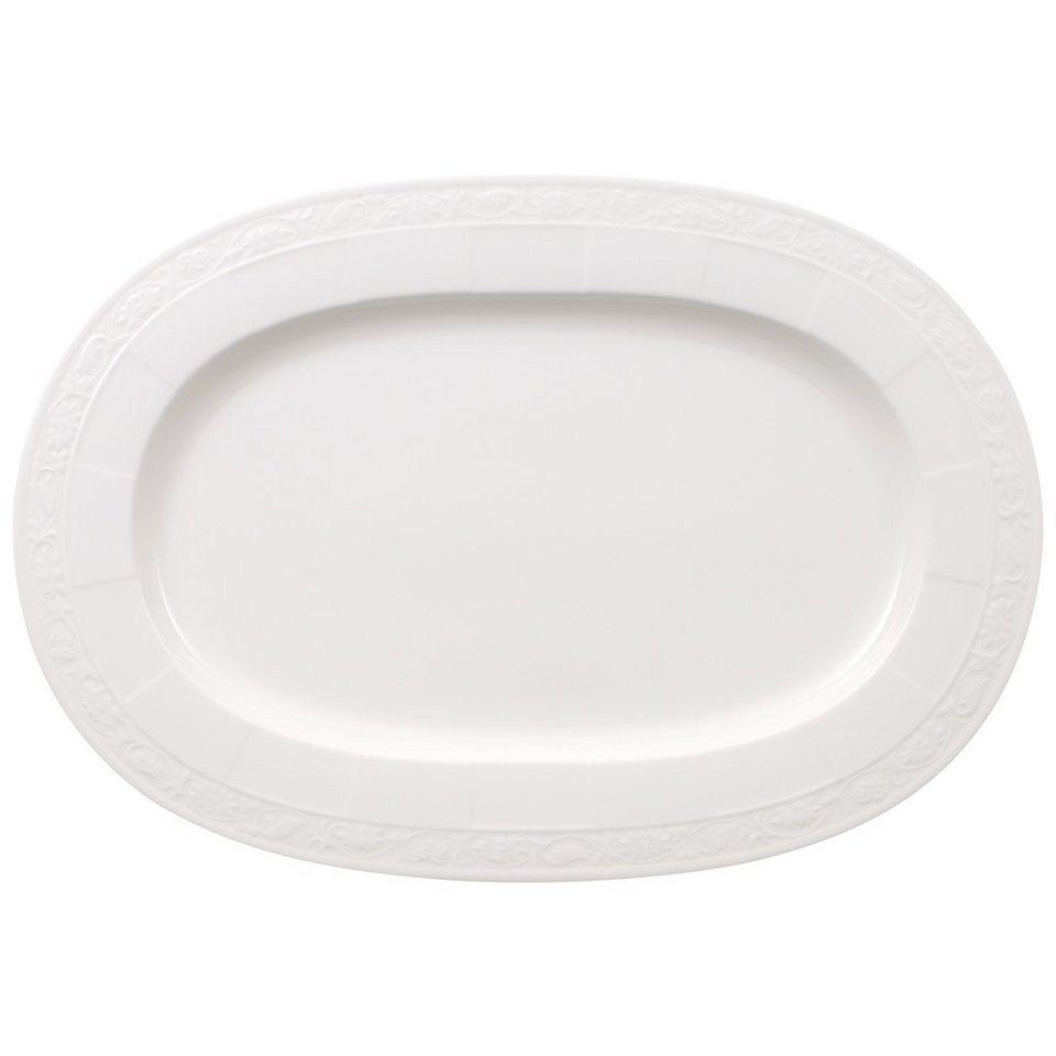 VILLEROY & BOCH Platte oval 41cm »White Pearl« in Weiss