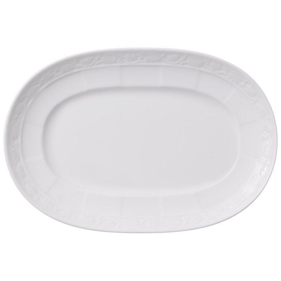 VILLEROY & BOCH Sauciere-Unterteil 22cm »White Pearl« in Weiss