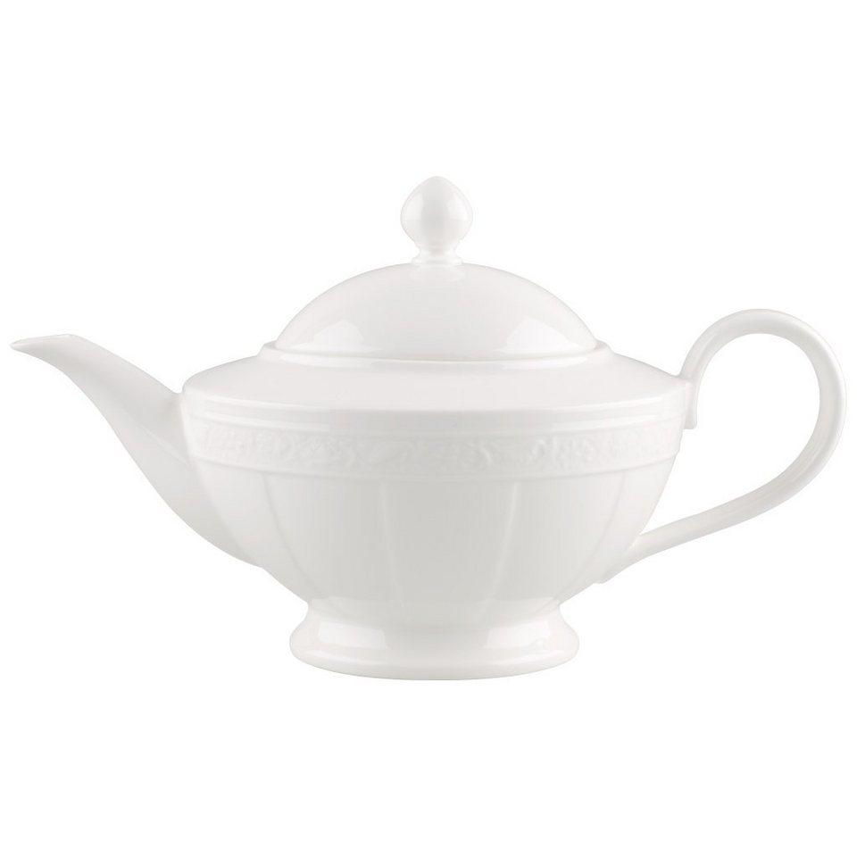 VILLEROY & BOCH Teekanne 6 Pers. »White Pearl« in Weiss