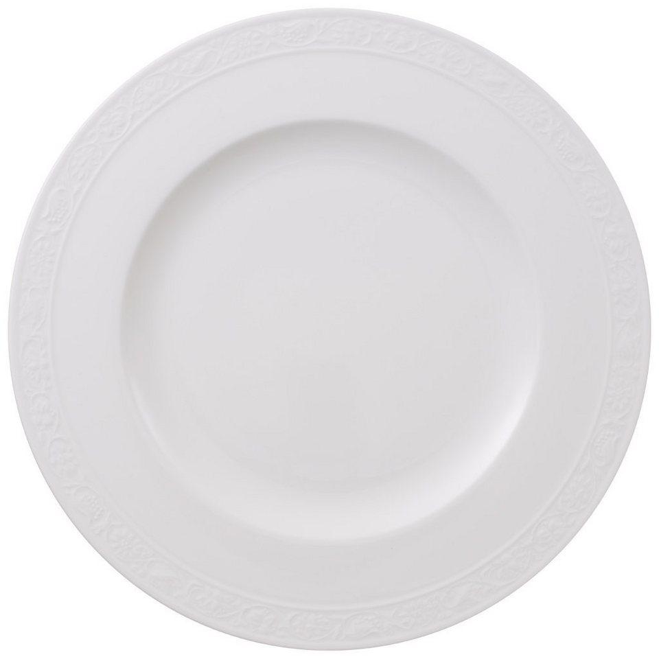 VILLEROY & BOCH Speiseteller »White Pearl« in Weiss