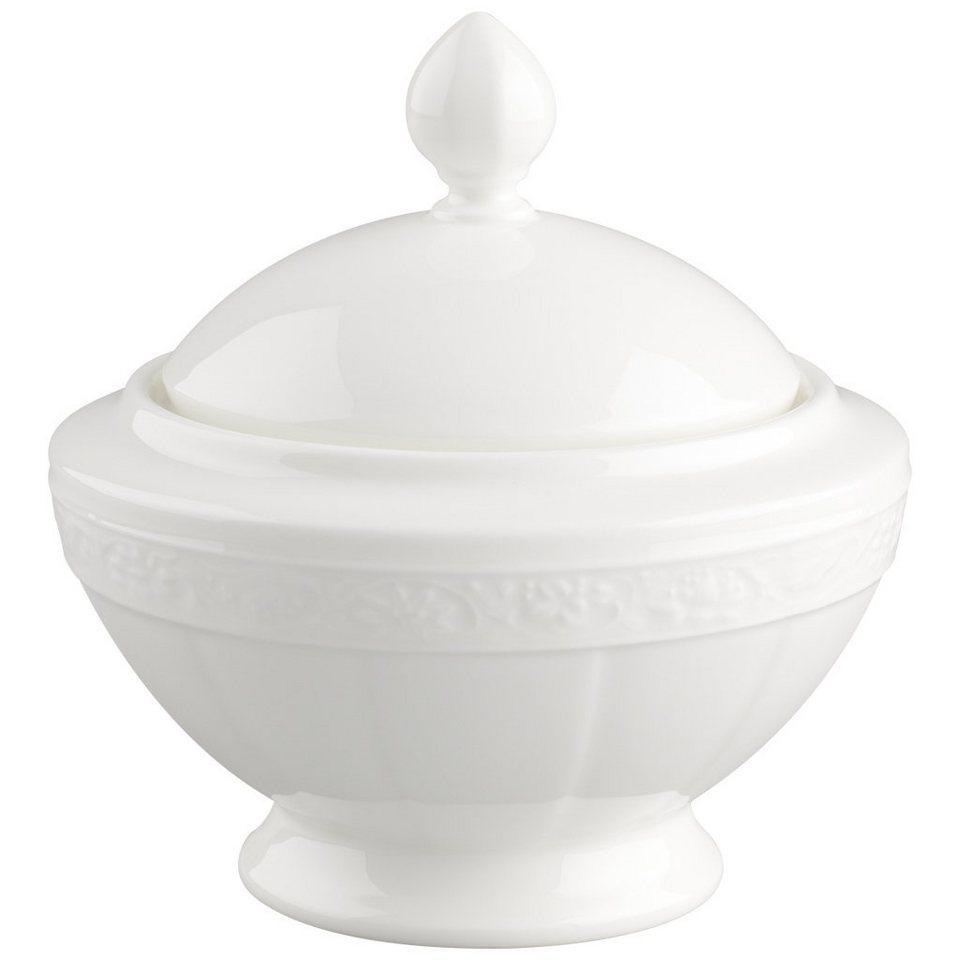 VILLEROY & BOCH Zuckerdose 6 Pers. »White Pearl« in Weiss