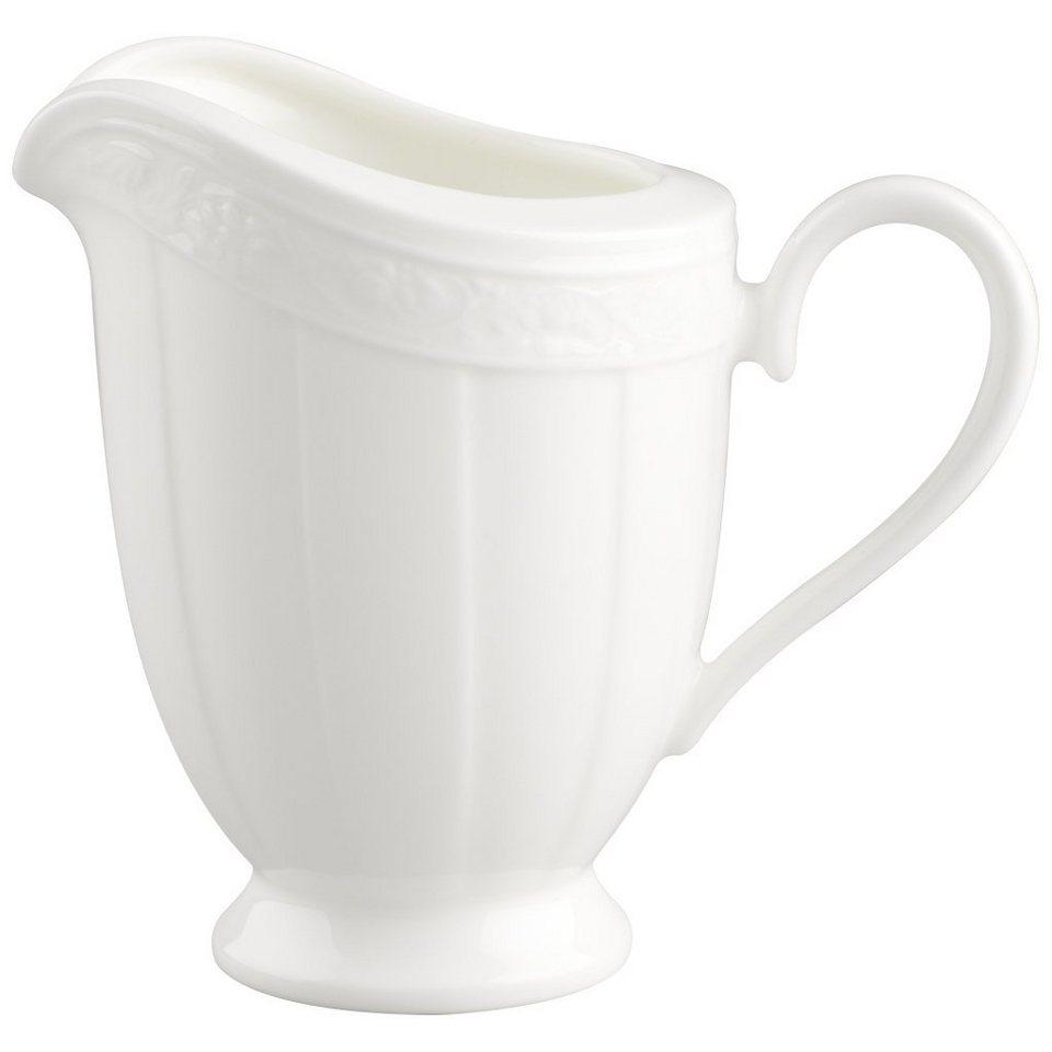VILLEROY & BOCH Milchkännchen 6 Pers. »White Pearl« in Weiss