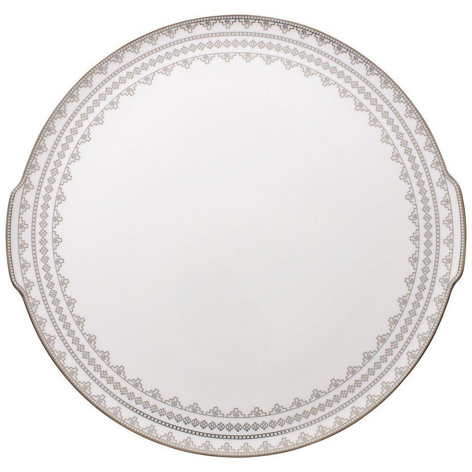 VILLEROY & BOCH Kuchen-/Tortenplatte »White Lace« in Dekoriert