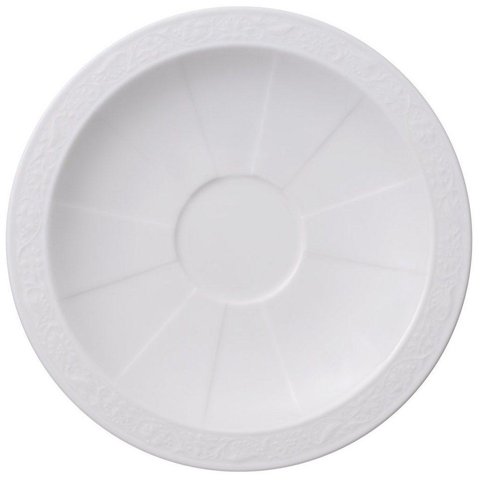 VILLEROY & BOCH Kaffee-/Teeuntertasse »White Pearl« in Weiss