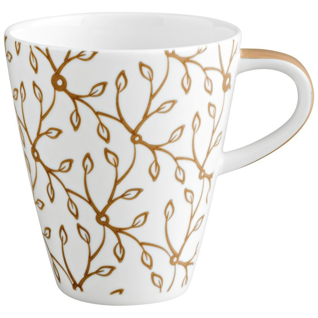VILLEROY & BOCH Becher mit Henkel klein »Caffè Club Floral caramel«