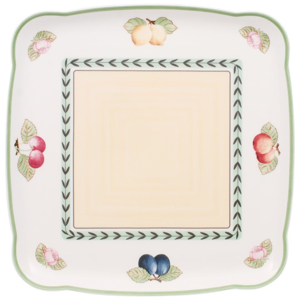 VILLEROY & BOCH Platte quadratisch 30cm »Charm & Breakfast French Garden«