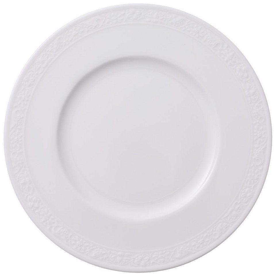 VILLEROY & BOCH Brotteller »White Pearl« in Weiss