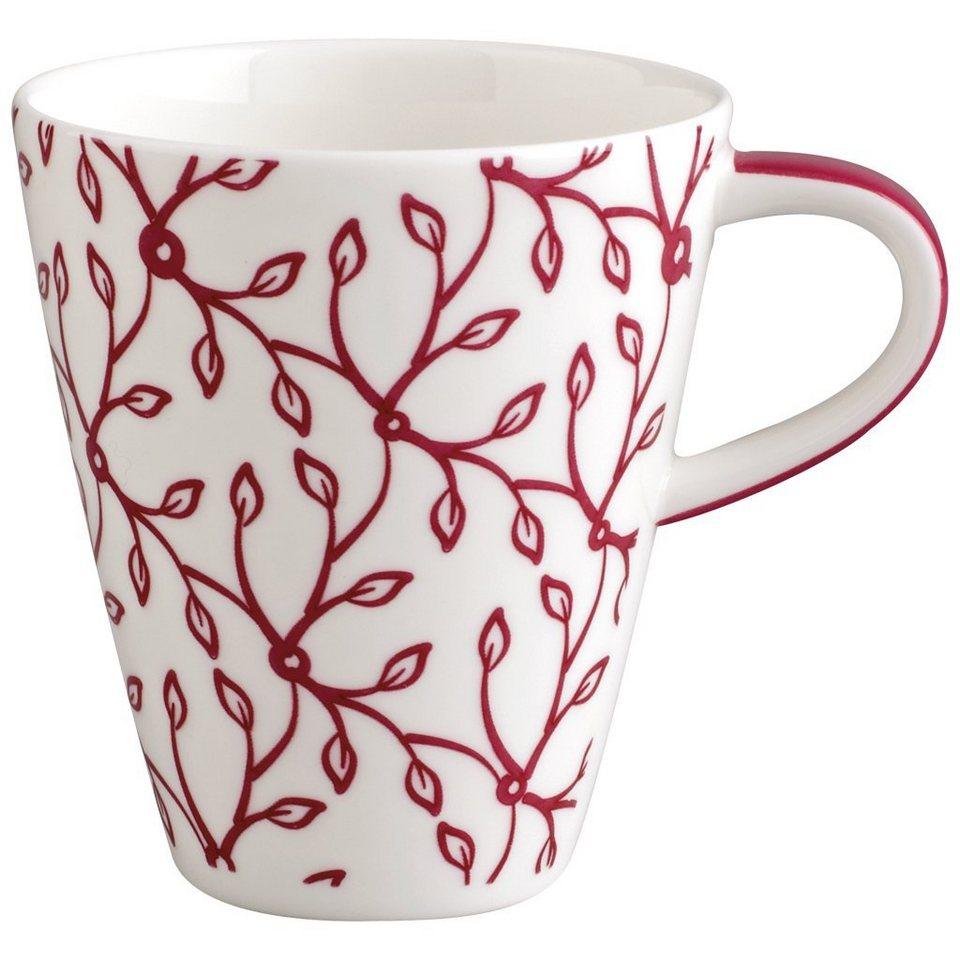 VILLEROY & BOCH Becher mit Henkel klein »Caffè Club Floral berry« in Dekoriert