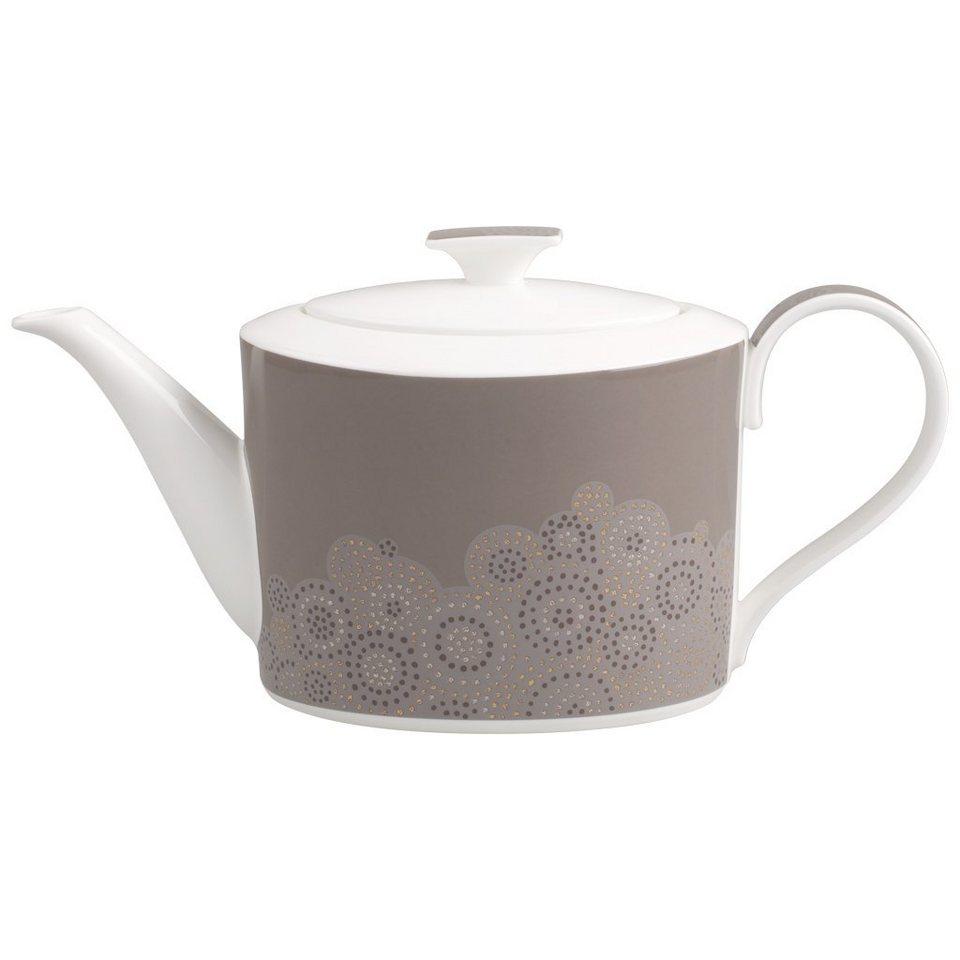 VILLEROY & BOCH Teeuntertasse 17x14cm »Modern Grace Grey« in Dekoriert