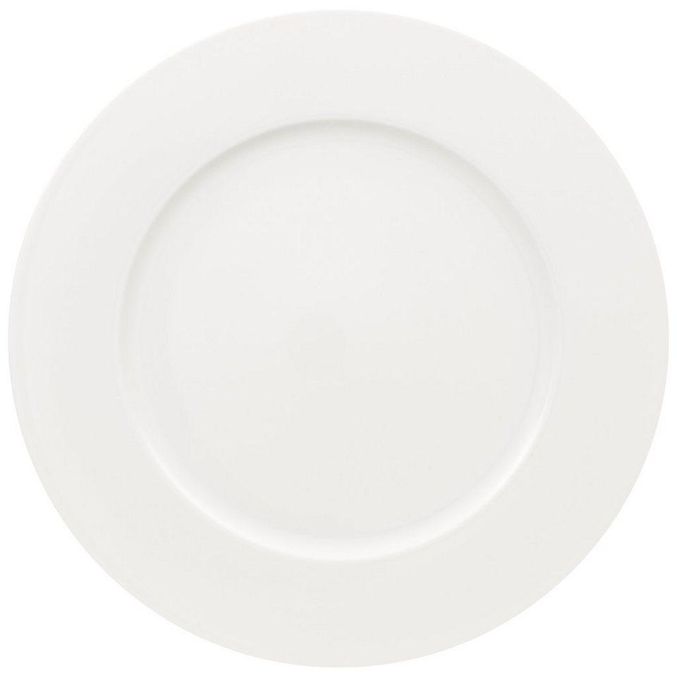 VILLEROY & BOCH Platz-/Gourmetteller »White Pearl« in Weiss