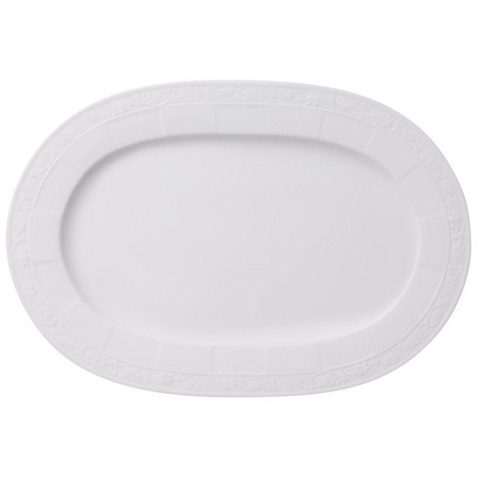 VILLEROY & BOCH Platte oval 35cm »White Pearl« in Weiss