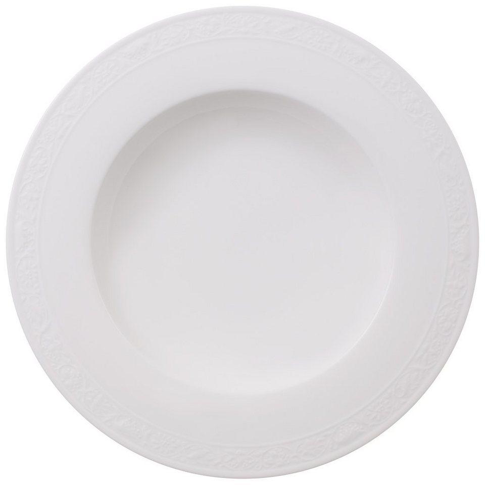VILLEROY & BOCH Suppenteller »White Pearl« in Weiss