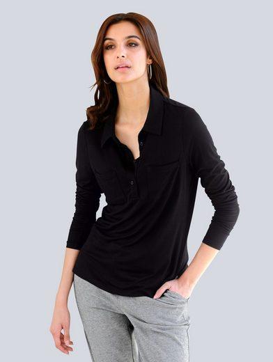 Alba Moda Poloshirt mit Polokragen