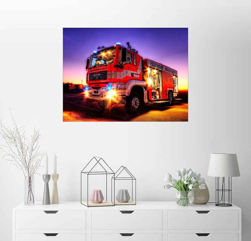 Posterlounge Wandbild, Feuerwehrauto in Braunschweig