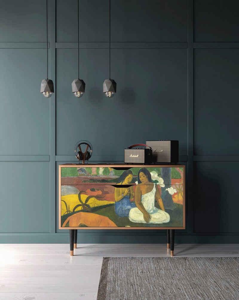 Places of Style Kommode »Arearea«, mit dekorativen Print auf den Türen