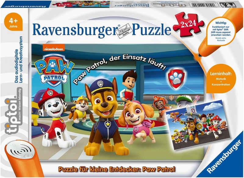 Ravensburger Puzzle »tiptoi® Puzzle für kleine Entdecker: Paw Patrol«, 24 Puzzleteile, Made in Europe; FSC® - schützt Wald - weltweit