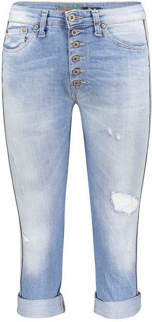 Please Jeans Destroyed-Jeans »P36H« mit seitlicher Streifenapplikation | Bekleidung > Jeans > Destroyed Jeans | Please Jeans