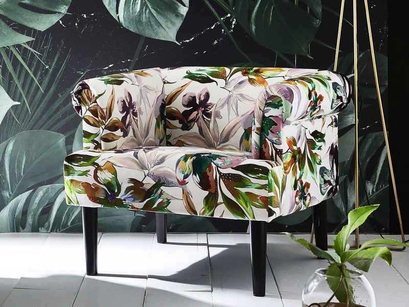 ATLANTIC home collection Sessel, Loungesessel mit Wellenunterfederung