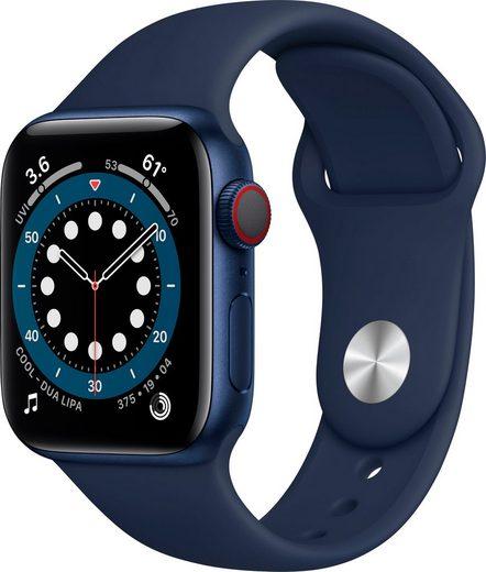 Apple Series 6 GPS + Cellular, Aluminiumgehäuse mit Sport 40mm Watch (Watch OS 6), inkl. Ladestation (magnetisches Ladekabel)