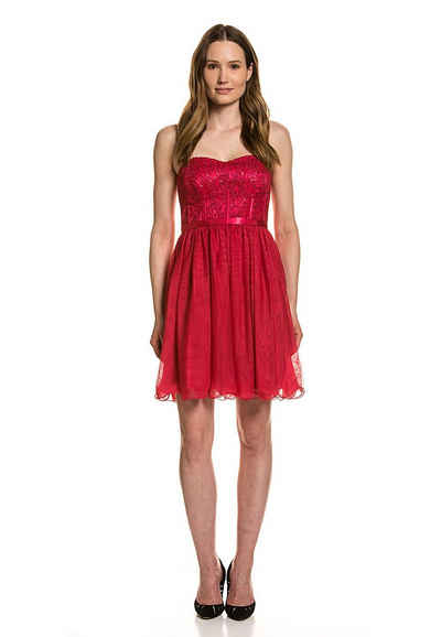 Vera Mont Sommerkleid »Vera Mont Party-Kleid summer statement Abendkleid glitzerndes Cocktailkleid für Damen Rot«