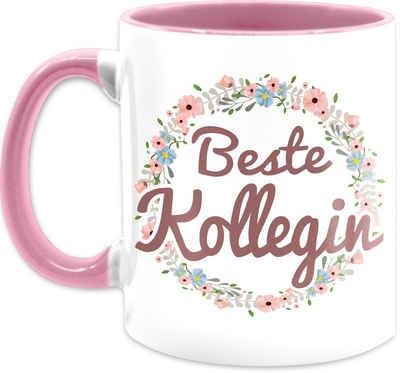Shirtracer Tasse »Beste Kollegin Tasse - Kaffeetasse Job Geschenk - Tasse zweifarbig«, Keramik, Beruf Teetasse