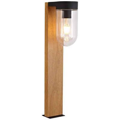 Brilliant Leuchten Sockelleuchte »Cabar«, Außensockellampe 55cm holz dunkel/schwarz