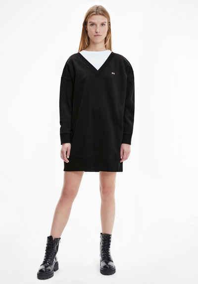 Tommy Jeans Sweatkleid »TJW V-NECK SWEAT DRESS« mit tiefem V-Ausschnitt vorn & hinten