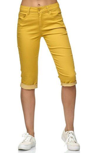 Egomaxx Caprihose »2752« Damen Capri Jeans INES