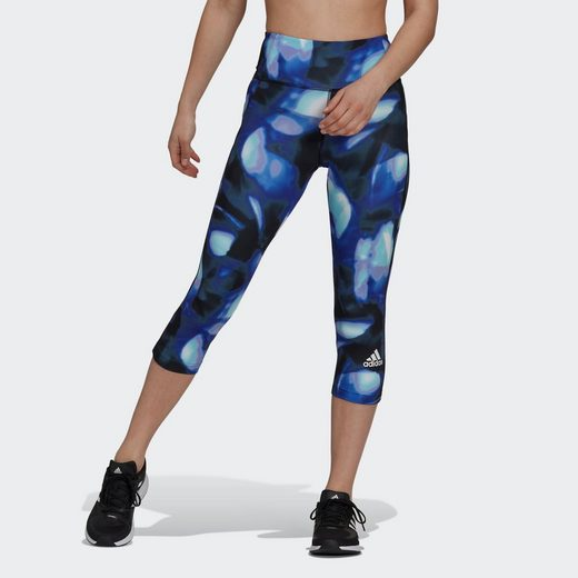 adidas Performance Funktionstights »FeelBrilliant AEROREADY You for You Printed Sport 3/4-Tight«