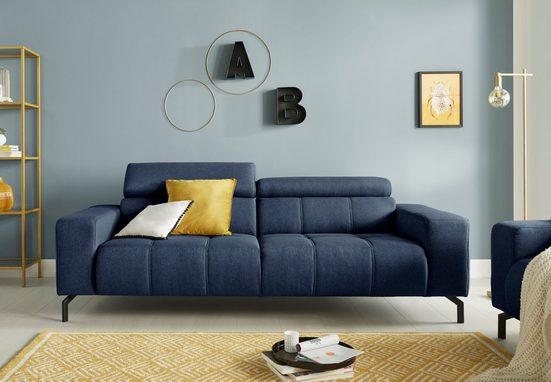DOMO collection 2,5-Sitzer, inklusive 6-fach verstellbarer Kopfteilverstellung