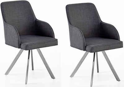 MCA furniture Esszimmerstuhl »Elara C« (Set, 2 Stück), drehbar 180° mit Nivellierung, Belastbar bis max. 120 kg