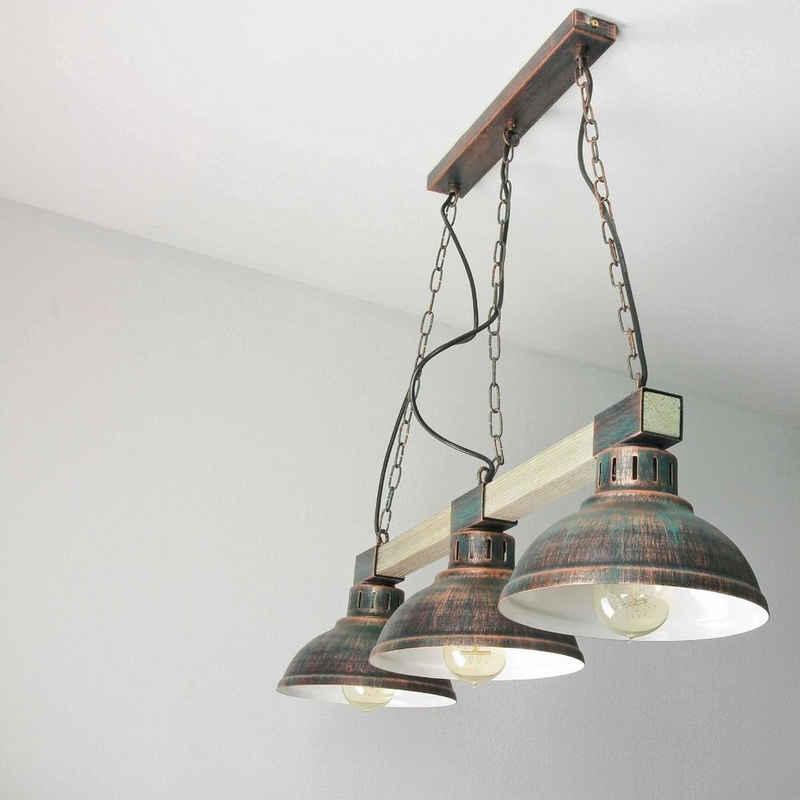 Licht-Erlebnisse Pendelleuchte »HAKON«, Hängelampe in Kupfer Vintage Decke Lampe
