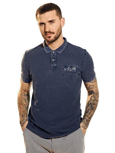 emilio adani T-Shirt »Poloshirt strukturiert«