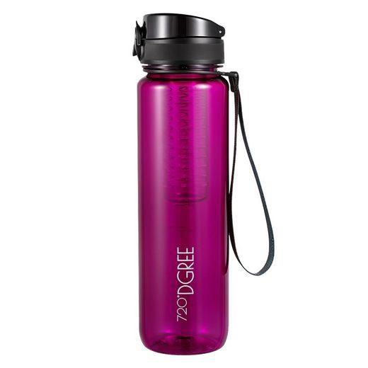 720°DGREE Trinkflasche »uberBottle«, Trinkflasche, Wasserflasche, 1000ml, Auslaufsicher, Sportflasche, für Schule, Sport, Fahrrad, Outdoor, Wandern, mit Früchtesieb