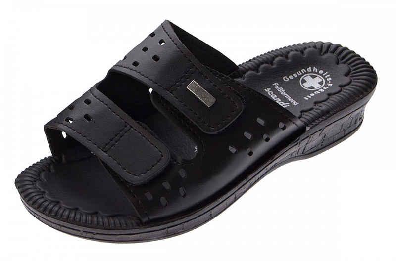 Scandi »Clogs Pantoletten Latschen Gesundheits Schuhe« Zehentrenner Gel-Effekt