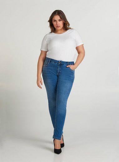 Zizzi Slim-fit-Jeans Große Größen Damen Extra Slim Fit Jeans mit Stretch