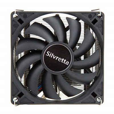 Alpenföhn CPU Kühler »Silvretta«, 92mm, für Mini-ITX/Micro ATX, 1 PWM Lüfter 95W TDP, CPU Kühler, 2800RPM, Innenraum PC Gehäuse, schwarz
