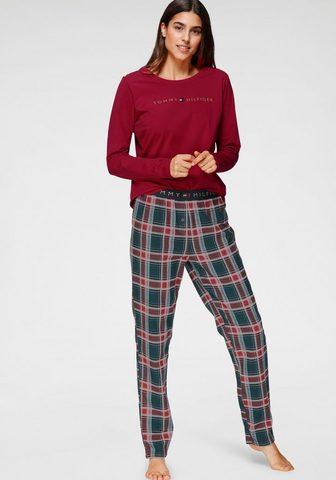 Tommy Hilfiger Pižama su languotas kelnės ir Logoschr...