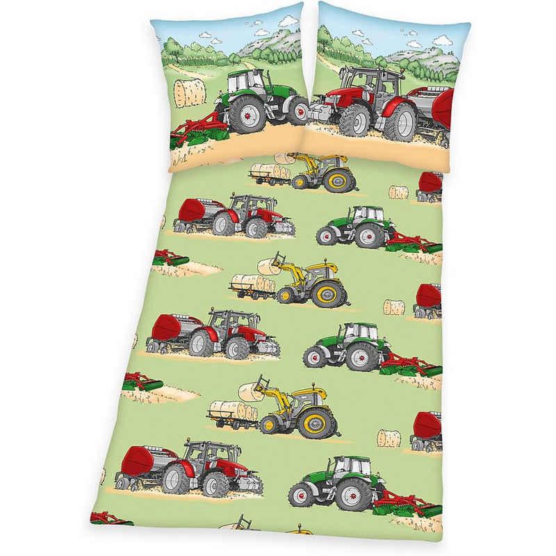 Bettwäsche »Kinderbettwäsche Trecker, Renforcé, 135 x 200 + 80«, Herding
