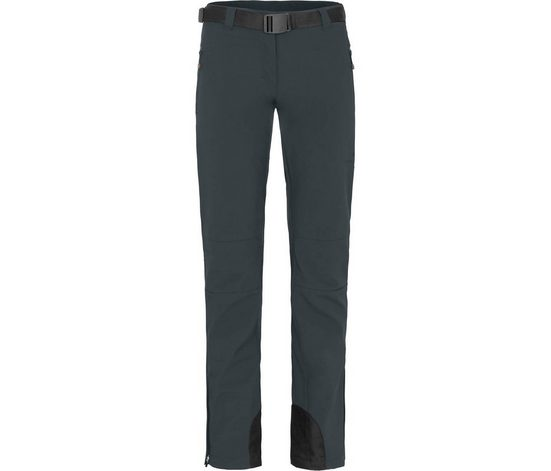 Bergson Outdoorhose »MAILA« Damen Winter Softshellhose, winddicht, warm, Kurzgrößen, dunkel grau