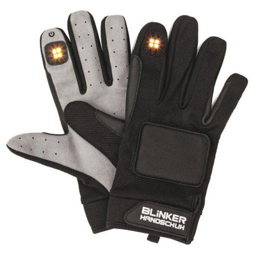 dynamic24 Fahrradhandschuhe LED Blinkerhandschuhe Handschuhe Fahrrad Inlineskater Skateboard Roller Verkehr Gr. XS/S