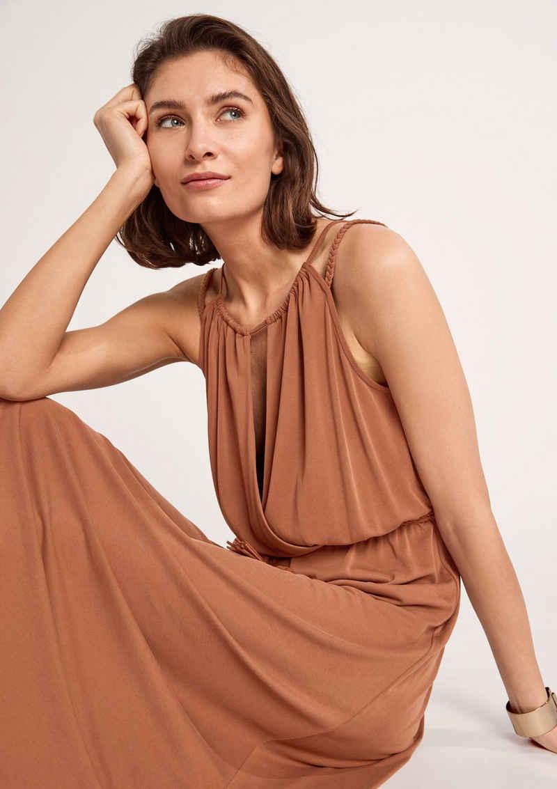 Comma Minikleid »Modalmix-Kleid mit Flechtgürtel« Cut Out