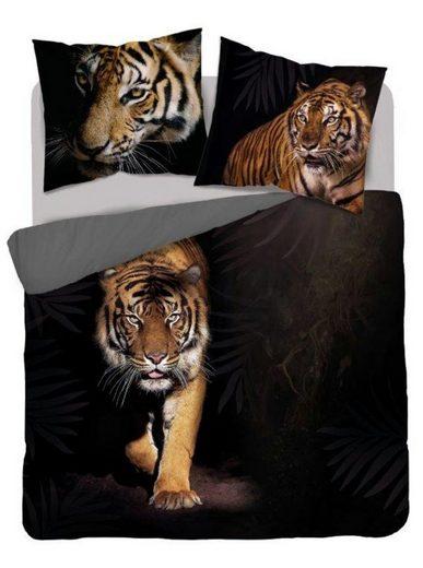Bettwäsche »Black Tiger«, Detexpol, 3 teiliges Set, 220x200 cm Deckenbezug, 2x 70x80 Kissenbezug, 100% Baumwolle